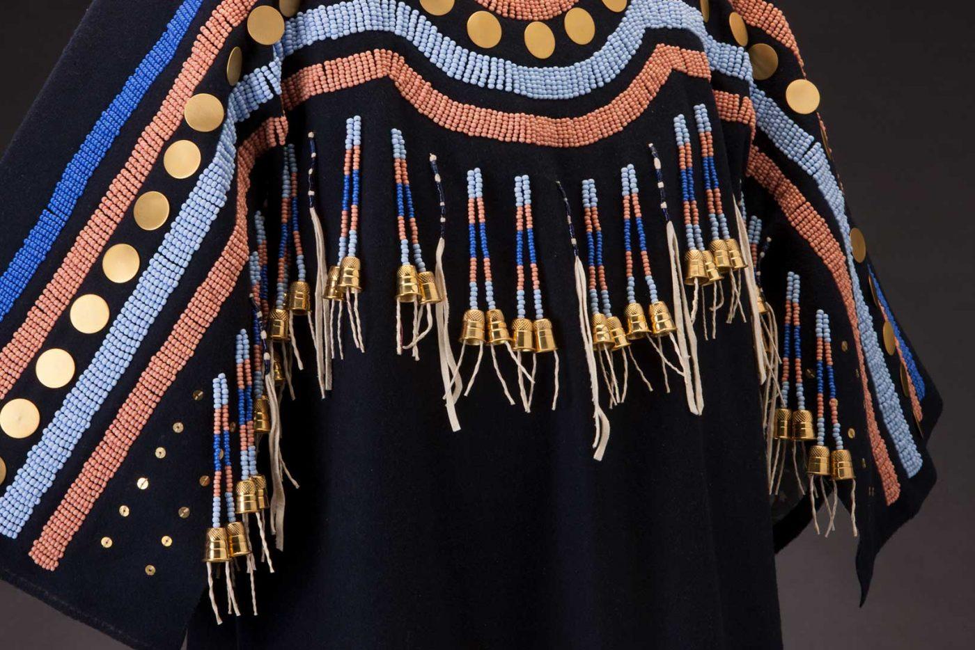 Albertine Crow Shoe, Blackfoot Traditional Dress